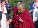 Lama Zopa Rinpoche blessing students